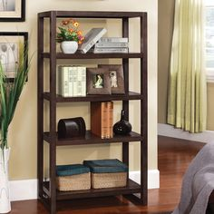@Overstock.com - Regibel Solid Wood 5-tier Display Bookcase - Organize your things with this five-tiered display bookcase. A solid wood with an espresso finish highlights this bookcase.   http://www.overstock.com/Home-Garden/Regibel-Solid-Wood-5-tier-Display-Bookcase/7752495/product.html?CID=214117 $289.99