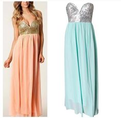 Bridesmaids glitter dresses! Soo in LOVEE with these. I'm all about bling an sparkles :))