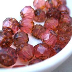 Turkish delight  Czech glass firepolish beads  6mm  by AvedisBeads, $2.95