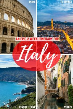 Planning a 2 week trip to Italy? Check out this 2 weeks in Italy itinerary to plan the perfect first Italy trip: make your way through Rome, Florence, Tuscany, Cinque Terre, and Venice--all with just 14 days in Italy! #italy #florence#venice#rome #cinqueterre #italia #travel #itinerary #europe #italytrip #europetrip #italyitinerary