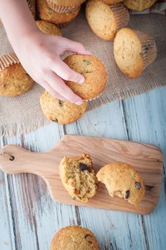 These banana chocolate chip muffins are easy to make, quick and delicious. Your family will love you a little extra when these come out of the oven.