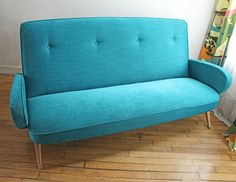canape-annees-50-turquoise-dessus
