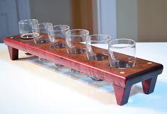 Handmade Wood Mini Brew Beer Sampler