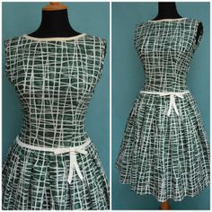 Vintage dress 1950s 1960s Swing Dress by VintageGreenClothing, £74.99