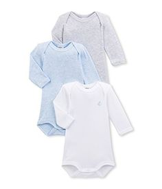 New Petit Bateau Boys  3 Pack Long Sleeve Bodysuits online -  Topbrandsclothing f9b93f8e1d6