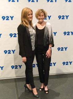 Judy Blume (r.) celebrated the launch of her new adult novel 'In the Unlikely Event' (Knopf) on June 2 with an onstage conversation with Samantha Bee at the 92nd Street Y in New York City. Photo: Josefine Kals