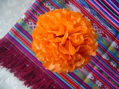 Mexican paper flowers video tutorial pinterest mexican paper day of the dead diy paper marigold tutorial mightylinksfo