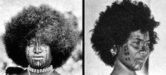 New Guinea. Motu facial tattoos, ca. 1915.