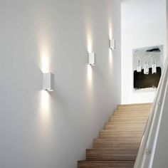Outdoor Wall Lights for Houses . Outdoor Wall Lights for Houses . Wall Sconces for Staircase Led Stair Lights, Led Porch Light, Stairway Lighting, Outdoor Wall Lighting, Sconce Lighting, Staircase Lighting Ideas, Landscape Lighting, Lights On Stairs, Strip Lighting