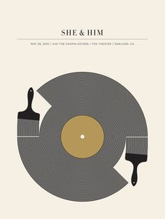 Gig poster for She & Him