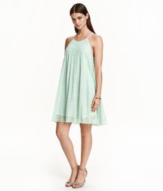 Short A-line dress in lace | H&M Pastels