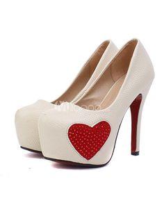 blancos corazon rojo