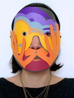 My Name is Carnival - giovanna cellini Mascarilla Diy, Cardboard Mask, Paper Mask, Masks Art, Art Plastique, Mask Making, Oeuvre D'art, Masquerade, Diy Art