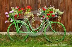 Vintage Bicycle With Flowers Royalty Free Stock Image - Image ...