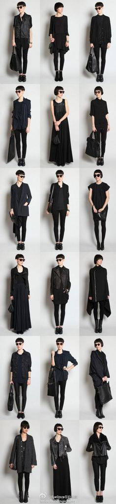 25 All Black Outfits For Women, Black on black outfit inspiration. We've curated all black street style looks from around the world to help you look your best. Looks Chic, Looks Style, Dark Fashion, Minimalist Fashion, Monochrome Fashion, Look Blazer, Inspiration Mode, Fashion Inspiration, Business Outfit