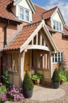 64 Ideas for front door porch extension border oak Front Door Porch, Front Porch Design, Front Doors, Porch Designs, Porch Roof, Front Entry, Porches, Cottage Porch, Cottage Style