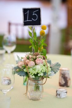 Deconstructed floral arrangements in mason jars are one of the most popular looks we've seen this season.
