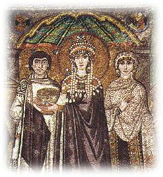 Eyeconart: Medieval Art  (Pinner's note--Brief overview of icon art.  Pertinent fact for Rhy:  Byzantines set bits of glass into the mortar of the buildings to create mosaics.)