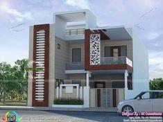 44+ new ideas house plans duplex front elevation Bungalow House Design, House Front Design, Modern House Design, Home Design, Design Ideas, Indian House Exterior Design, Kerala House Design, Modern Exterior, Front Elevation Designs