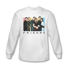 Friends Sitcom Popular Funny TV Series NBC Cast Logo Adult Long Sleeve T-Shirt
