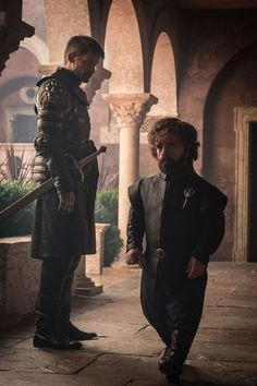 Jaime and Tyrion Game of Thrones. Arte Game Of Thrones, Game Of Thrones Cast, Jaime Lannister, Lannister Tyrion, Winter Is Here, Winter Is Coming, Real Madrid, Cersei And Jaime, Casterly Rock