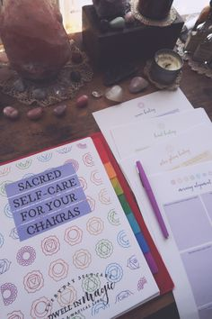 A new, easy-to-read guide and worksheet bundle for how to balance your chakras using the art of sacred self-care and other healing modalities. Meditation Books, Best Meditation, Morning Meditation, Guided Meditation, Chakra Healing, Crystal Healing, Healing Stones, Crystal Magic, Sacral Chakra