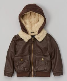 Look what I found on #zulily! Brown Bomber Jacket - Toddler by London Fog #zulilyfinds