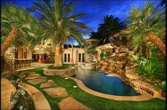 palm trees residential landscape | Palm trees in the landscape - Bing Images