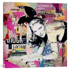 iCanvas Kate Moss (Green) Playin' Bad Bunny Gallery Wrapped Canvas Art Print by Michiel Folkers Kate Moss, Canvas Artwork, Canvas Art Prints, Collages, Bad Bunny, Erotic Art, Online Art Gallery, Saatchi Art, Pop Art