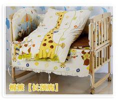 79.80$  Buy now - http://alilr9.worldwells.pw/go.php?t=32331239229 - Promotion! 10PCS Bear Crib bedding 100% Crib bedding set baby sheet baby bed Baby Bedding Sets (bumper+matress+pillow+duvet) 79.80$