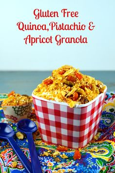Apricot & pistachio granola #passover, #gluten Free #Vegan Breakfast