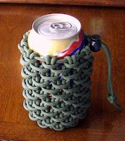 DIY paracord can koozie to help you stay cool, calm, and collected. Hubby will love this!!!!