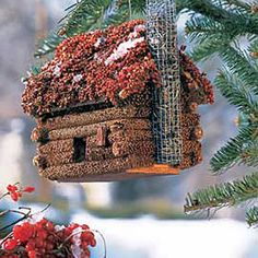 Birdseed Log Cabin