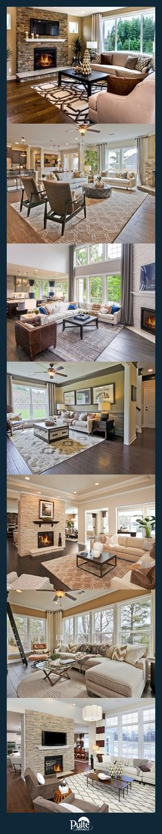 Baby, it's cold outside! But these beautiful  rooms will keep you warm. Spend your winter afternoons in a comfy chair by a fireplace or cozy on the couch with the ones you love.   Pulte Homes