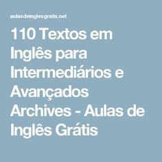 110 Textos em Inglês para Intermediários e Avançados Archives - Aulas de Inglês Grátis