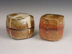 Ceramics by Phil Rogers at Studiopottery.co.uk - Two boxes, 2007.