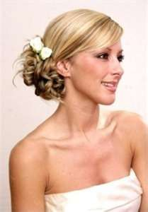 Wedding beach hair - add tropical flowers.