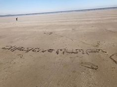 Oh my friend has just cheered me up. Look what her children wrote in the sand. #freeadvertising #childrenaresofunny #beach #mumlife