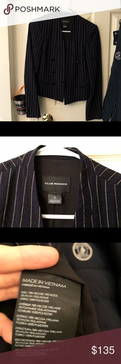 Brand New Club Monaco blazer for selling Runs big for me. New condition Club Monaco Jackets & Coats Blazers