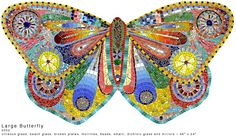 Mosaic artists surnames a-g - Find an enormous range of mosaic tiles, tools, kits, glue, bases and more. Everything for mosaic making. Mosaic Crafts, Mosaic Projects, Mosaic Art, Mosaic Glass, Glass Art, Stained Glass, Mosaic Ideas, Butterfly Mosaic, Mosaic Birds