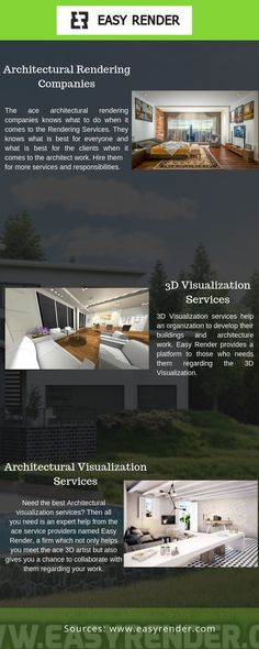 Are you looking for the best Visualisation Companies in the world? Then all you got to do is just visit the ace service company named Easy Render, which helps in allowing you the great services when it comes to the hiring of your favourite Artist. 3d Rendering Services, 3d Visualization, 3d Artist, Things To Come, Future, Architecture, World, Easy, Arquitetura