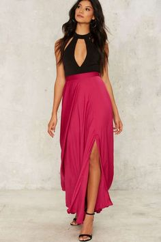 Build Me Up Slit Skirt