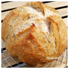 Egyszerű kovászos kenyér – Alaprecept – Betty hobbi konyhája Breads, Fimo, Bread Rolls, Bread, Braided Pigtails, Buns