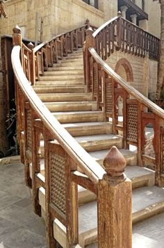 Wooden stairs at Coptic Museum (Old Egypt)