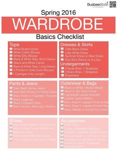 Wardrobe Basics | Basic Pieces Every Woman Needs In Her Wardrobe including jeans, pants, skirts, tops, jackets, shoes and accessories #wardrobebasicseverywomanneeds