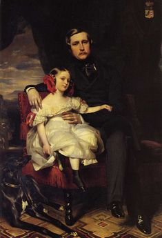 Alexandre Louis Joseph Berthier Prince of Wagram and his daughter by Franz Xaver Winterhalter, 1838 France