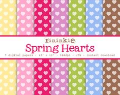 Valentine's Day Digital Papers Digital Paper Hearts by Pininkie, $2.00