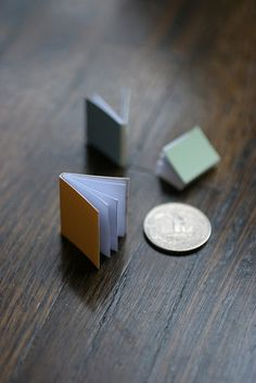 Paint chips into tiny books. Brilliant.