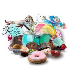 """Indulge, Life is Sweet!"" by allison-natasha ❤ liked on Polyvore featuring art"