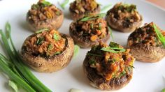 Super easy stuffed mushrooms recipe requires no pre-cooking. Just stuff mushrooms with chorizo and bake them